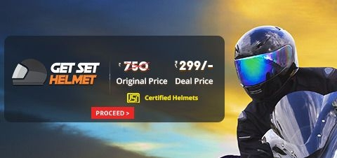 Get Set Helmet | Helmet @ Rs 299 | Droom