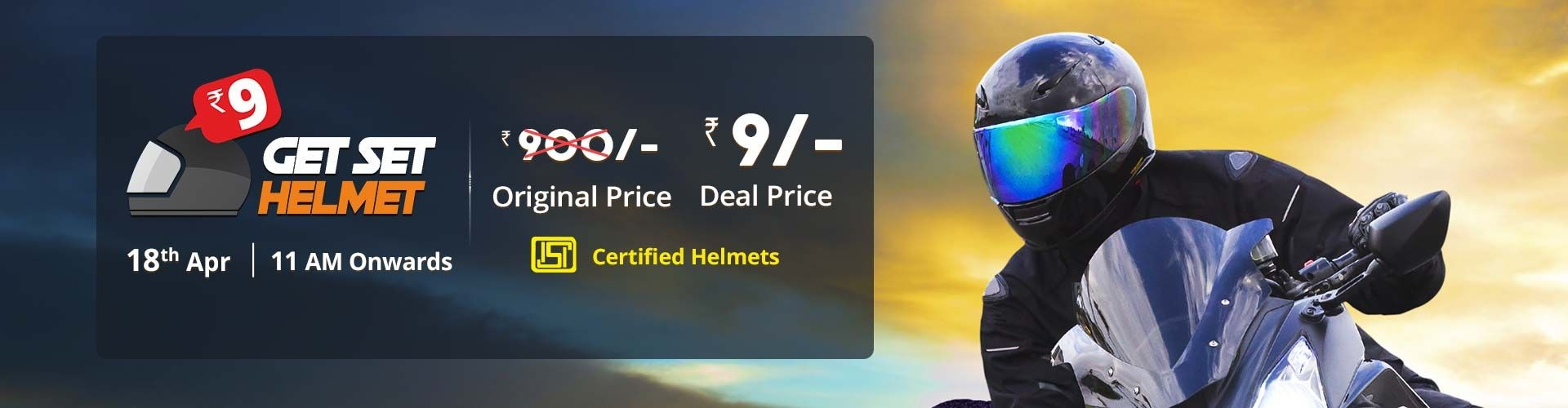 Get Set Helmet | Remind Me Option | Droom